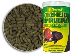 TROPICAL CICHLID SPIRULINA LARGE STICKS 1000ML PUSZKA ORIGINAL