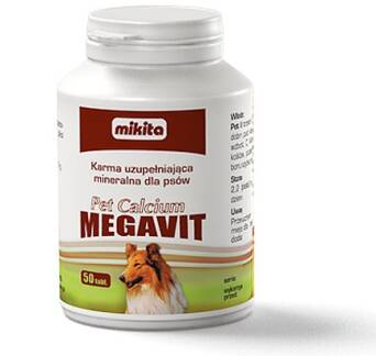MIKITA PET CALCIUM MEGAVIT 150 TABLETEK