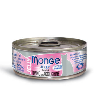 MONGE CAT JELLY TUŃCZYK ANCHIOS 80G