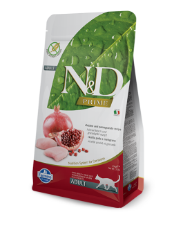 FARMINA N&D CHICKEN&POMEGRANATE GRAIN FREE  ADULT CAT 1,5KG
