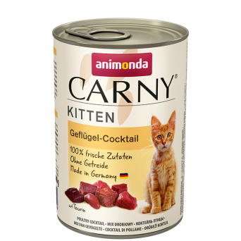 ANIMONDA CARNY KITTEN MIX DROBIOWY 400 g + TAURYNA