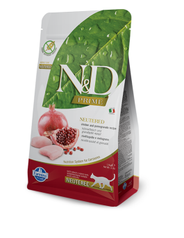 FARMINA N&D CHICKEN & POMEGRANATE CAT NEUTERED GRAIN FREE 5KG
