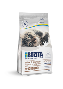 BOZITA KOT INDOOR STERILISED RENIFER BEZ ZBÓŻ 400G
