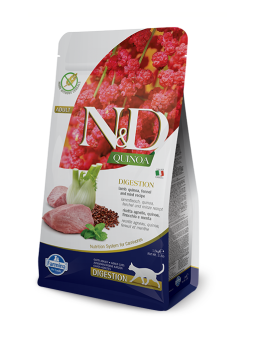 FARMINA N&D GRAIN FREE DIGESTION CAT 1,5KG QUINOA LAMB