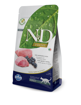 FARMINA N&D GRAIN FREE LAMB & BLUEBERRY CAT 5 KG