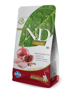 FARMINA N&D  CHICKEN & POMEGRANATE GRAIN FREE  KITTEN 5KG