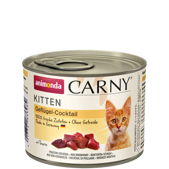 ANIMONDA CARNY KITTEN MIX DROBIOWY 200 g + TAURYNA