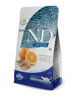 FARMINA N&D GRAIN FREE FISH & ORANGE CAT 1,5 KG