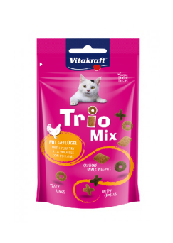 VITAKRAFT CAT TRIO MIX DRÓB 60G